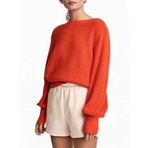 🆕 {{h&m}} Orange Knit Sweater